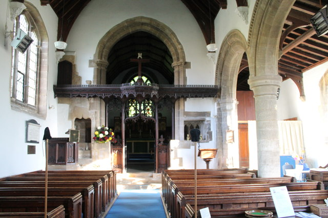 Interior, St Nicholas' church, Barkston