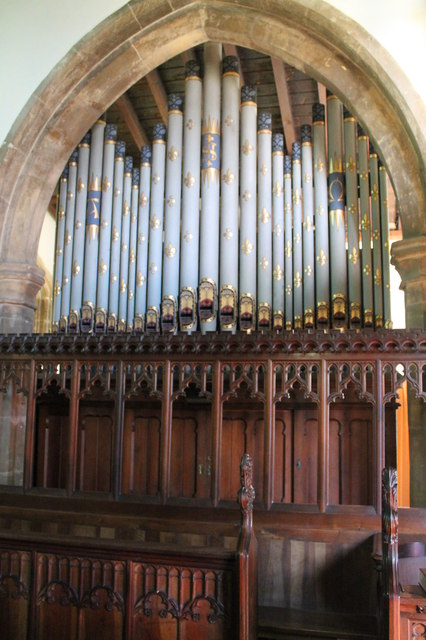 Organ, St Nicholas' church, Barkston