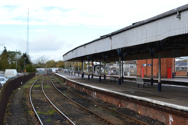 Salisbury railway station, looking west from buffers