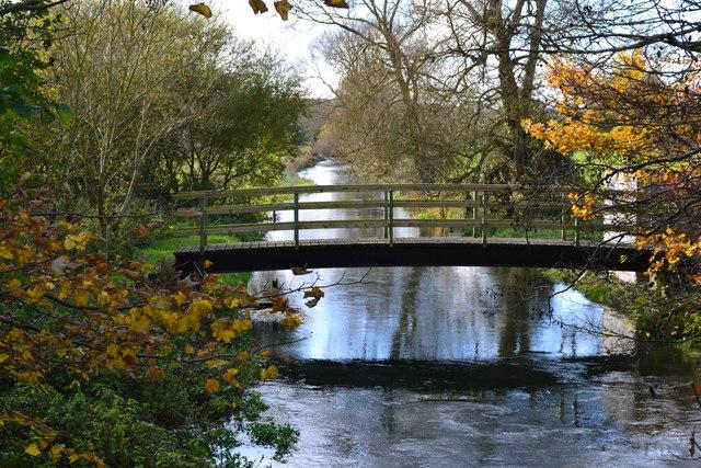 River Ebble looking upstream from Nunton Bridge