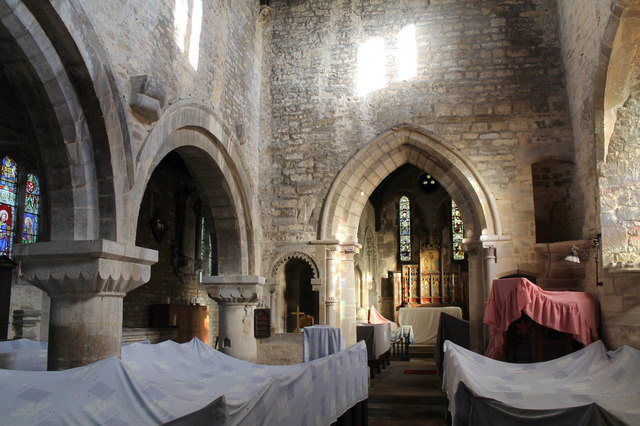 Interior, St Wilfred's church, Honington