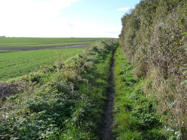 The bridleway to South Hiendley