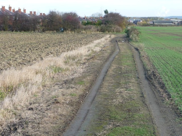 The bridleway to Kinsley
