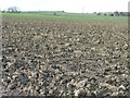 SE4113 : Ploughed field, west of Kinsley [2] by Christine Johnstone