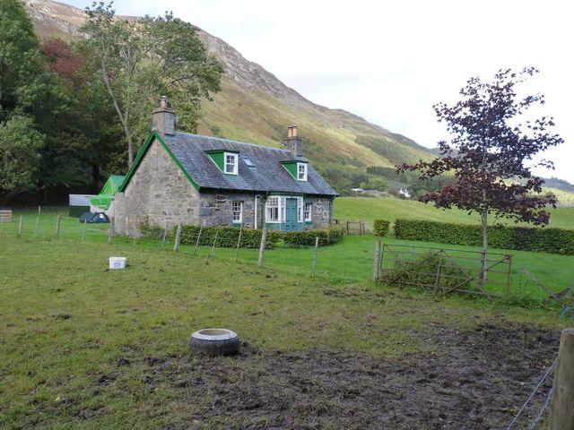Bon Dhu cottage in Glen Lyon
