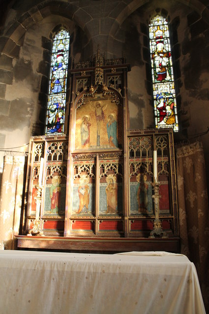 Reredos, St Wilfred's church, Honington