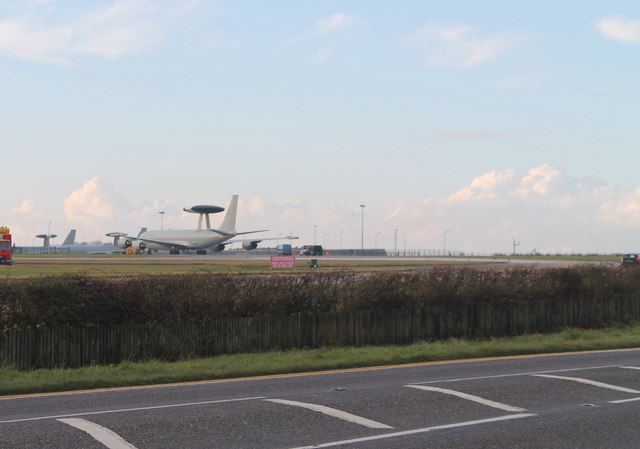 AWACS plane at RAF Waddington