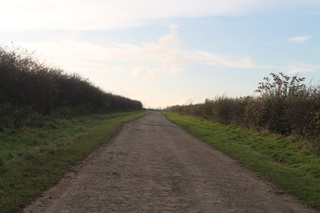 Track towards RAF Waddington