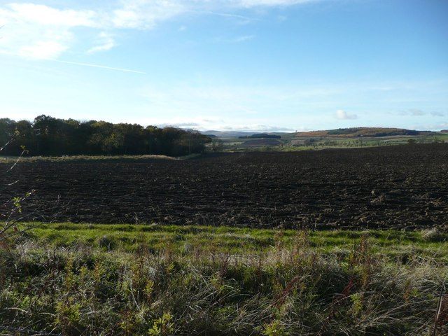 Ploughed field near Chillingham