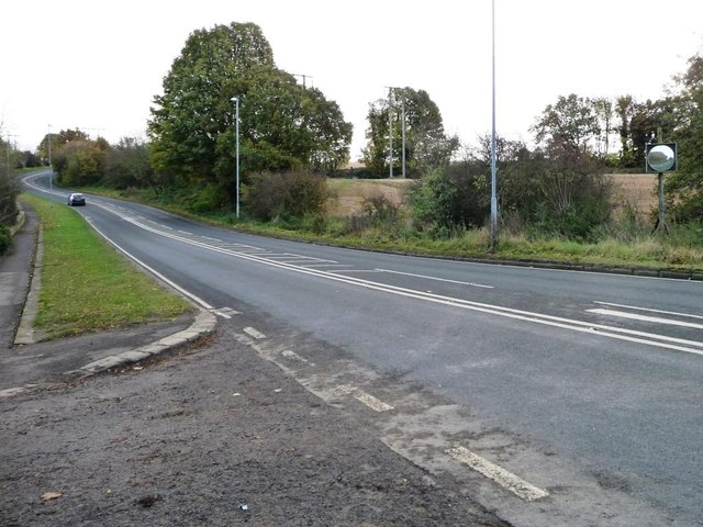 At the junction of Water Lane and the B6422