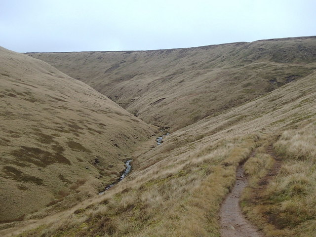 Crooked Clough and Doctor's Gate path