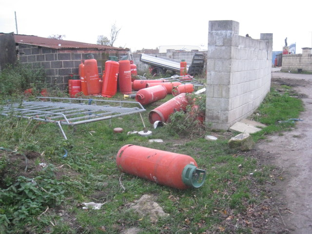 Abandoned gas cylinders