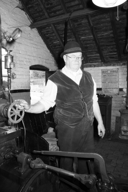 Blists Hill Victorian Town - winding engine driver