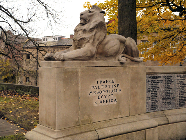 Stone Lion, Stalybridge War Memorial