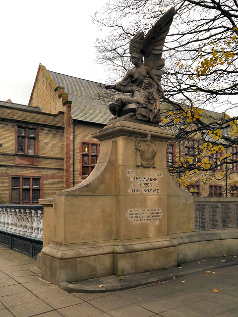 Angel and Soldier, Stalybridge War Memorial