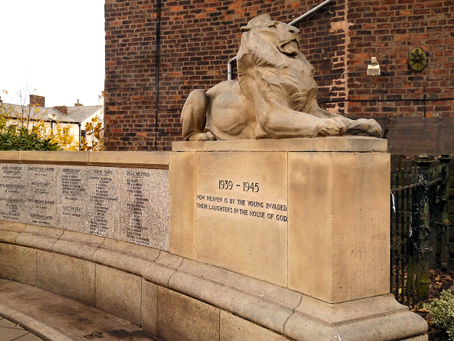 Stalybridge War Memorial Lion