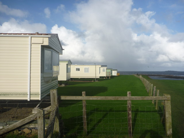 Coastal Northumberland : Caravan Park At Seahouses Point