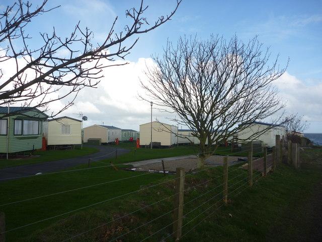 Coastal Northumberland : Clifftop Caravan Park, Seahouses