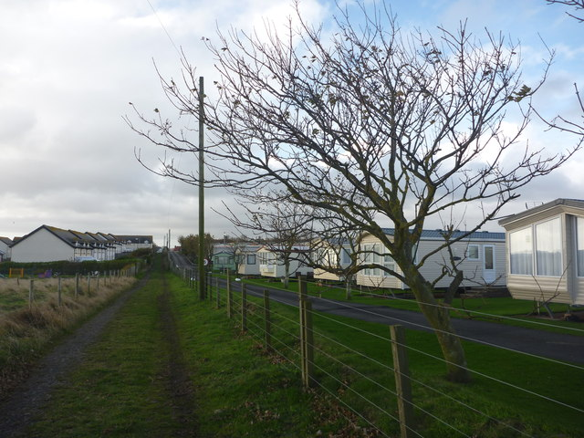 Coastal Northumberland : New Housing, Lane and Caravan Park at Seahouses