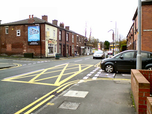 Box Junction at the top of Higher Henry Street
