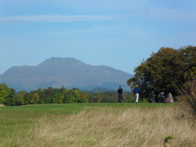 Ben Lomond looking over The Carrick Golf Course