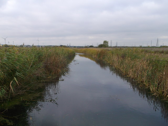 Drain in Rainham Marshes