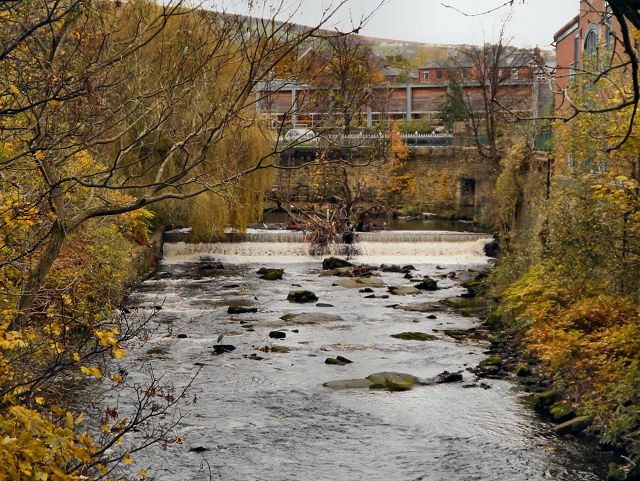River Tame, Weir at Stalybridge