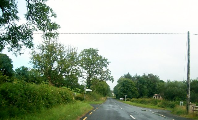 A minor crossroads on the R232 a mile or so east of Laghy