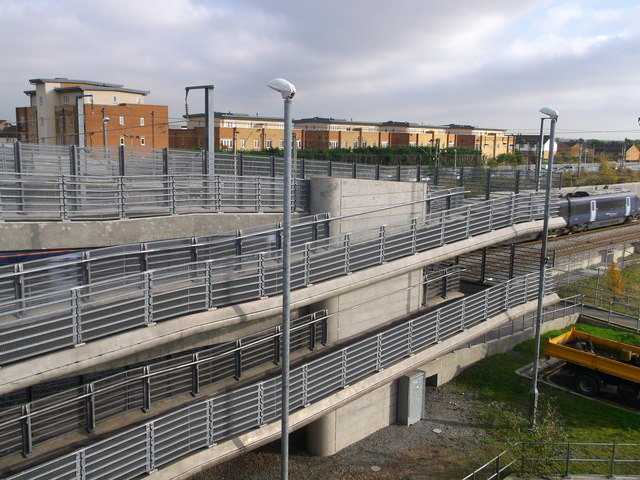New footbridge near Rainham Railway Station