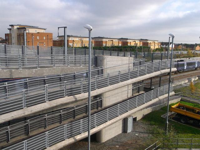 New footbridge near Rainham Railway Station
