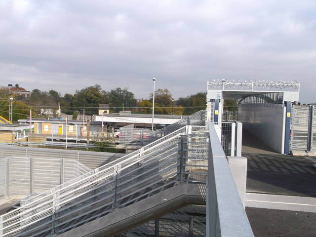 Altered footbridge near Rainham Railway Station