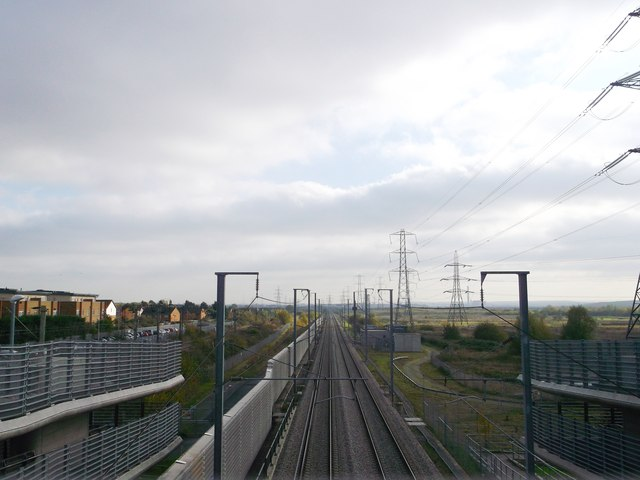 High Speed 1 towards West Thurrock