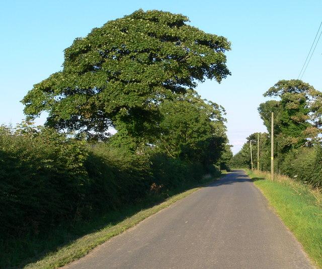 Heading east along Durham's Road