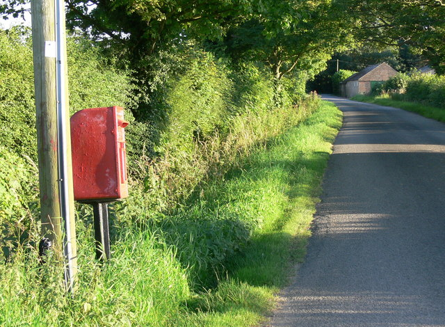 Postbox along Dawsmere Road