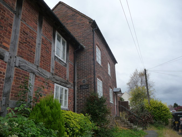 Restored houses on Sandy Bank, Bewdley