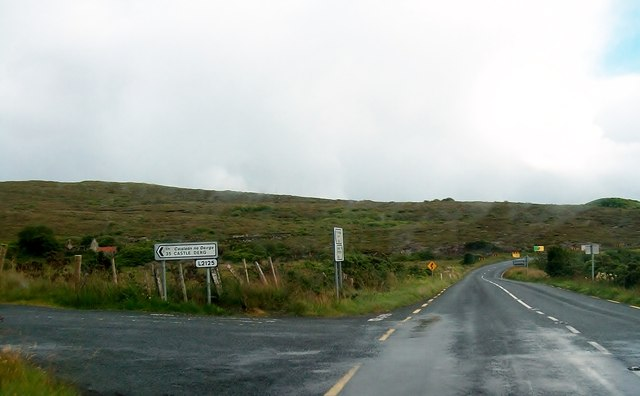 The R232 at its junction with the L2125 at  Trummon West Barr
