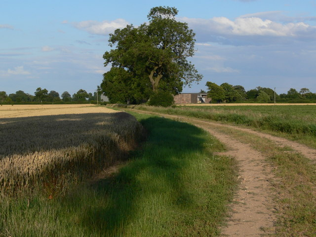 Footpath and track to Wiles Farm