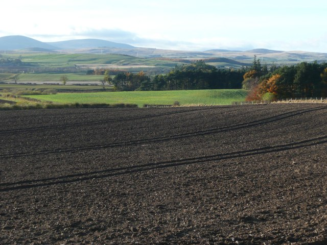Ploughed field near Old Bewick