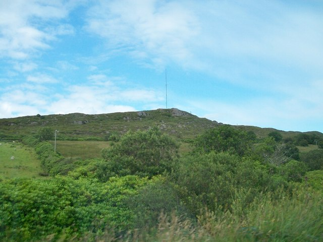 Communications mast at Rossilly Barr, Co Donegal
