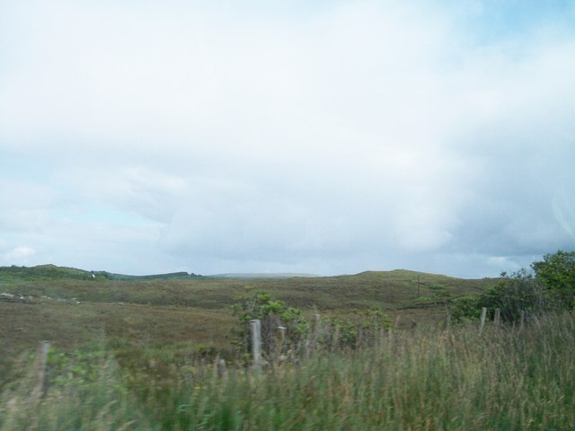 Moorland terrain east of the R232 near Drumgun