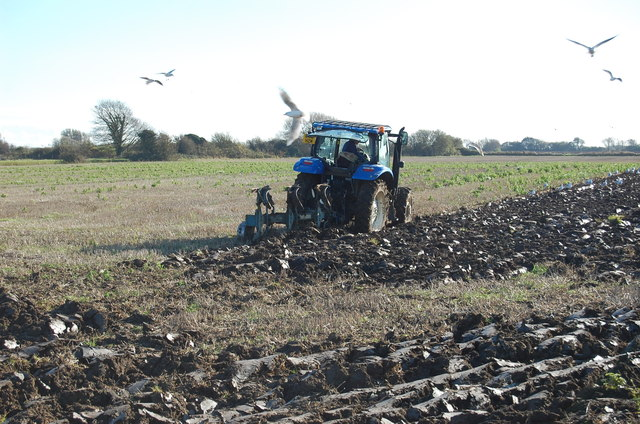 Ploughing near New Romney