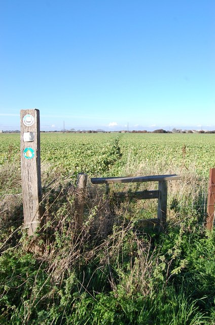 Stile and Footpath off Dennes Lane