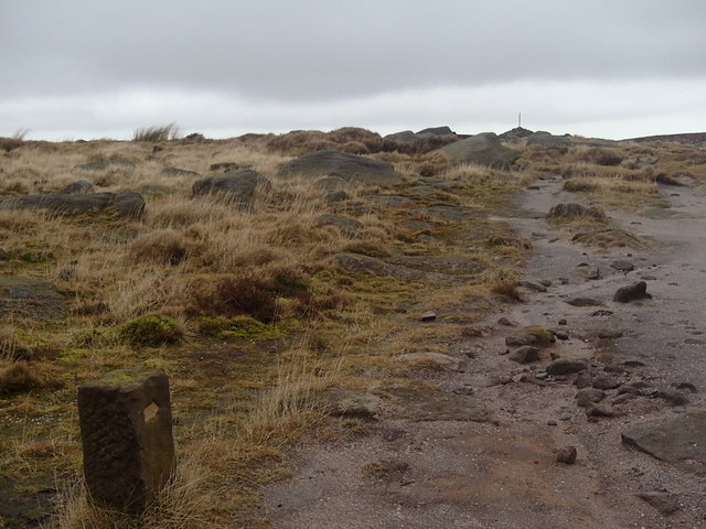 Approaching the cairn on Bleaklow from the south