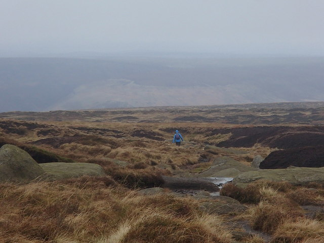Descending north from Bleaklow
