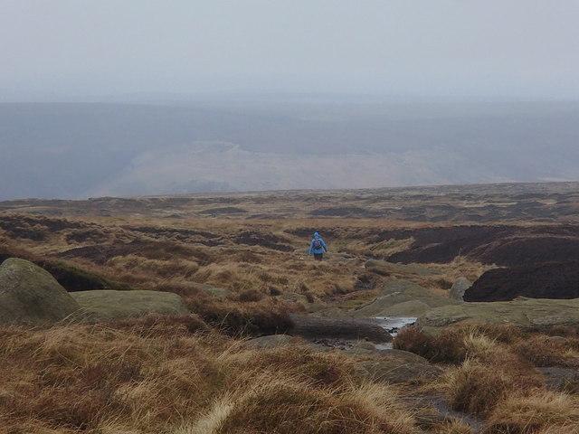 Descending north from Bleaklow