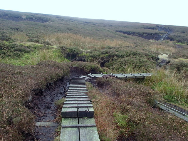 Moorland walking near Torside Castle