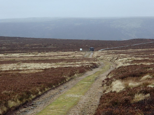 Moorland track, Glossop Low
