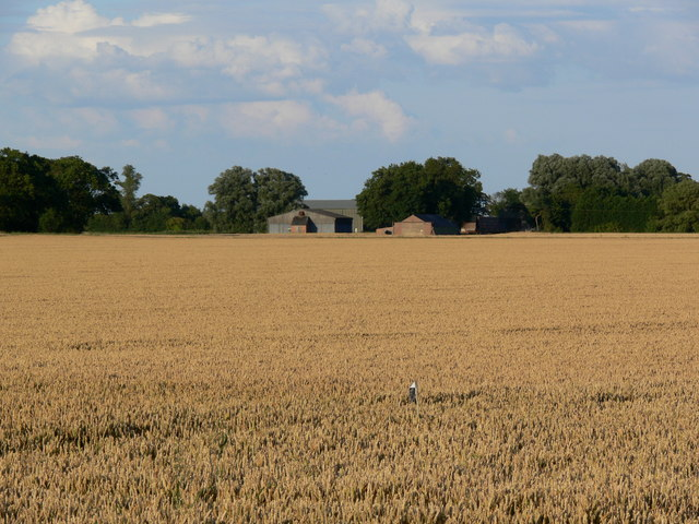 View across the fields to Red House Farm