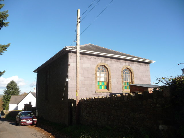 The rear of the United Reformed church at Llanover