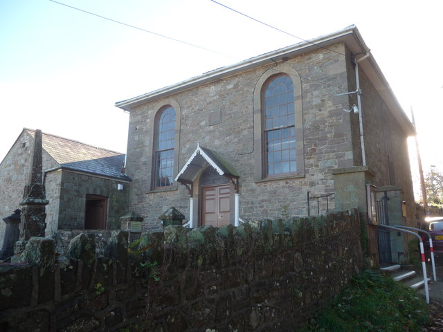 The Hanover United Reformed church at Llanover